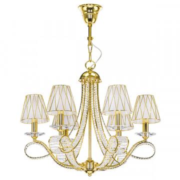 Подвесная люстра Lightstar Osgona Riccio 705062, 6xE14x40W, золото, металл со стеклом/хрусталем, пластик