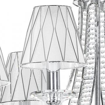 Подвесная люстра Lightstar Osgona Riccio 705064, 6xE14x40W, хром, белый, металл с хрусталем, пластик - миниатюра 3