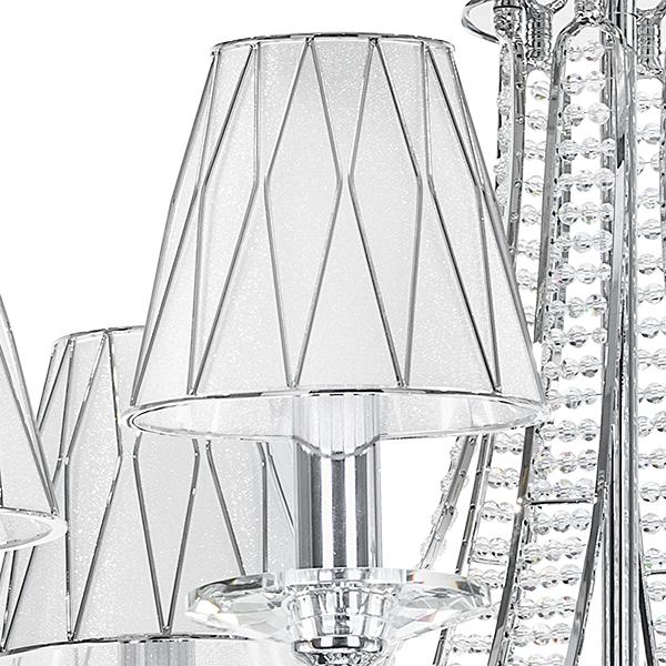 Подвесная люстра Lightstar Osgona Riccio 705064, 6xE14x40W, хром, белый, металл с хрусталем, пластик - фото 3