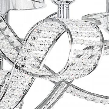 Подвесная люстра Lightstar Osgona Riccio 705064, 6xE14x40W, хром, белый, металл с хрусталем, пластик - миниатюра 7