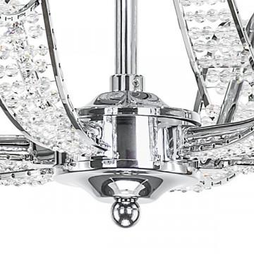 Подвесная люстра Lightstar Osgona Riccio 705064, 6xE14x40W, хром, белый, металл с хрусталем, пластик - миниатюра 8