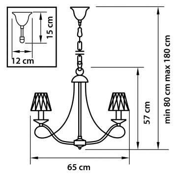 Схема с размерами Lightstar Osgona 705064