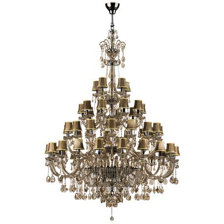 Подвесная люстра Lightstar Osgona Nativo 715577, 57xE14x40W, черный хром, коньячный, бежевый, стекло, хрусталь, текстиль - миниатюра 1