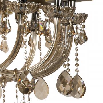 Подвесная люстра Lightstar Osgona Nativo 715577, 57xE14x40W, черный хром, коньячный, бежевый, стекло, хрусталь, текстиль - миниатюра 5