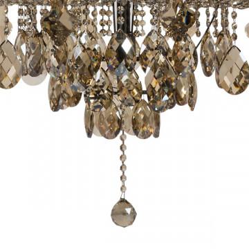 Подвесная люстра Lightstar Osgona Nativo 715577, 57xE14x40W, черный хром, коньячный, бежевый, стекло, хрусталь, текстиль - миниатюра 6