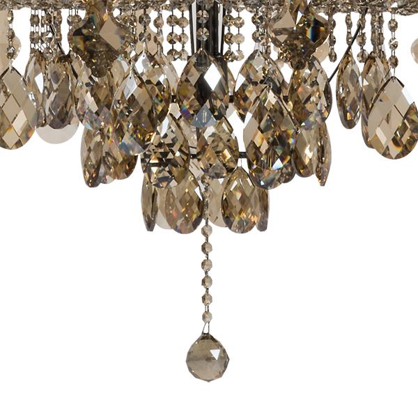 Подвесная люстра Lightstar Osgona Nativo 715577, 57xE14x40W, черный хром, коньячный, бежевый, стекло, хрусталь, текстиль - фото 6