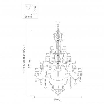 Схема с размерами Lightstar Osgona 715577