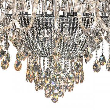 Подвесная люстра Lightstar Osgona Nativo 715577, 57xE14x40W, черный хром, коньячный, бежевый, стекло, хрусталь, текстиль - миниатюра 8