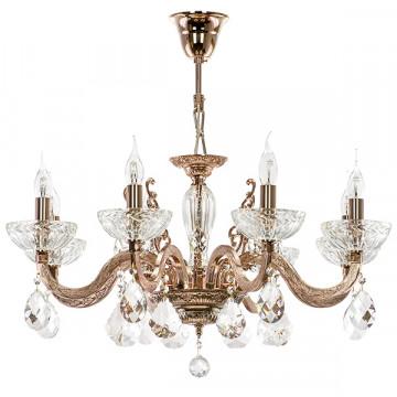 Подвесная люстра Lightstar Osgona Artifici 719088, 8xE14x60W, медь, прозрачный, металл с хрусталем, хрусталь