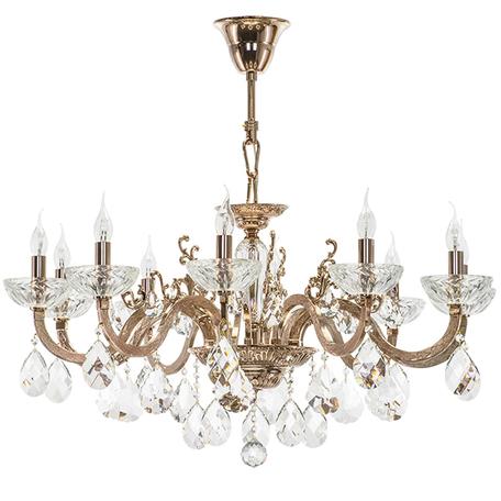 Подвесная люстра Lightstar Osgona Artifici 719108, 10xE14x60W, медь, прозрачный, металл со стеклом/хрусталем, хрусталь