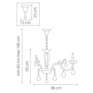Схема с размерами Lightstar Osgona 719108