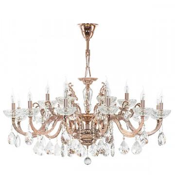Подвесная люстра Lightstar Osgona Artifici 719188, 18xE14x60W, медь, прозрачный, металл со стеклом/хрусталем, хрусталь