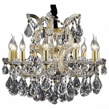 Подвесная люстра Lightstar Osgona Champa 775113, 11xE14x60W, золото, прозрачный, янтарь, стекло, хрусталь