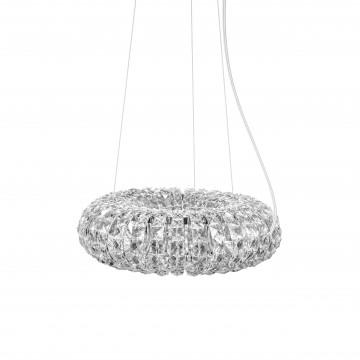 Подвесной светильник Lightstar Onda 741064, 6xG9x40W, хром, прозрачный, металл, хрусталь