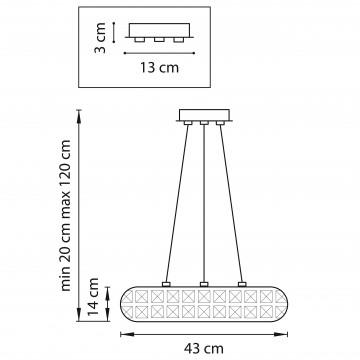 Схема с размерами Lightstar 741064