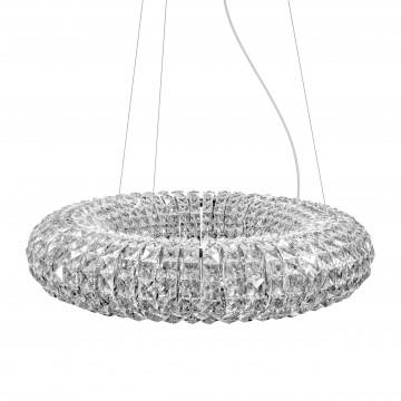Подвесной светильник Lightstar Onda 741104, 10xG9x40W, хром, прозрачный, металл, хрусталь