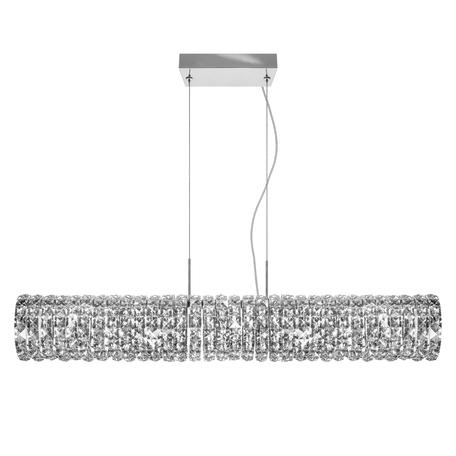 Подвесной светильник Lightstar Onda 741164, 6xG9x40W, хром, прозрачный, металл, хрусталь