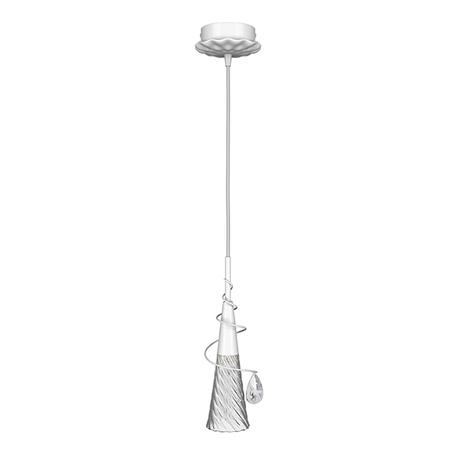 Подвесной светильник Lightstar Aereo 711010, 1xG9x25W, белый, прозрачный, металл, стекло, хрусталь