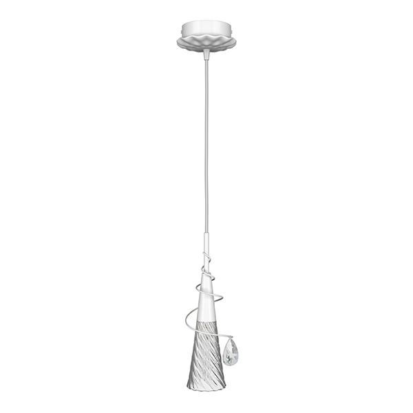 Подвесной светильник Lightstar Aereo 711010, 1xG9x25W, белый, прозрачный, металл, стекло, хрусталь - фото 1