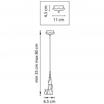 Схема с размерами Lightstar 711010