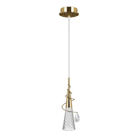 Подвесной светильник Lightstar Aereo 711012, 1xG9x25W, золото, прозрачный, металл, стекло, хрусталь