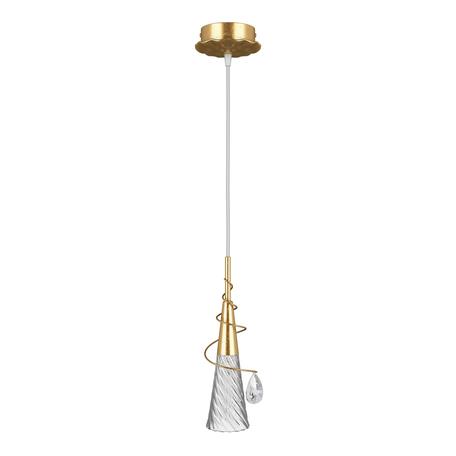 Подвесной светильник Lightstar Aereo 711013, 1xG9x25W, матовое золото, прозрачный, металл, стекло, хрусталь