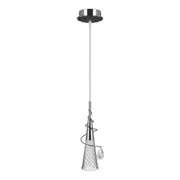 Подвесной светильник Lightstar Aereo 711014, 1xG9x25W, хром, прозрачный, металл, стекло, хрусталь