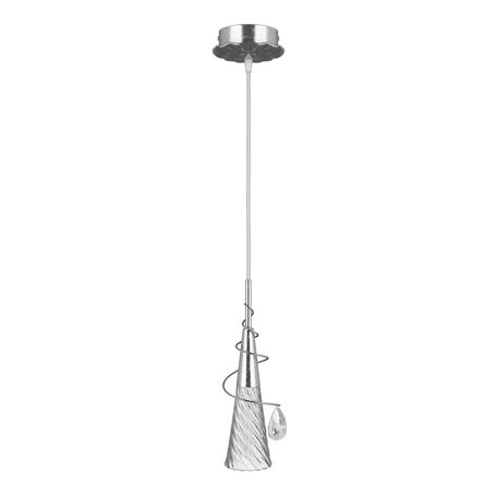 Подвесной светильник Lightstar Aereo 711019, 1xG9x25W, серебро, прозрачный, металл, стекло, хрусталь