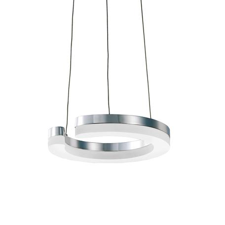 Подвесной светодиодный светильник Lightstar Unitario 763110, IP40, LED 11,5W, 4000K (дневной), хром, белый, металл, пластик