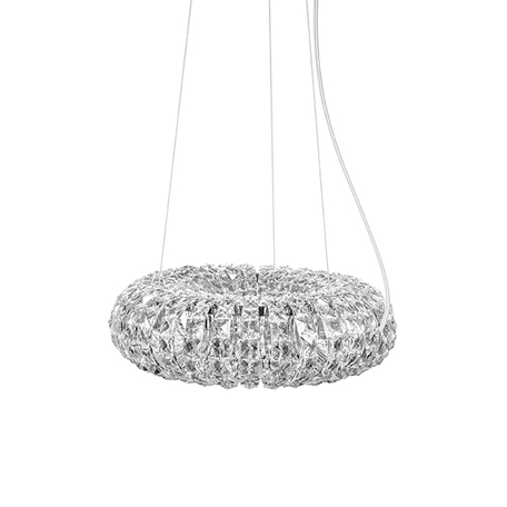 Подвесной светильник Lightstar Onda 741064, 6xG9x40W, хром, прозрачный, металл, хрусталь - миниатюра 1