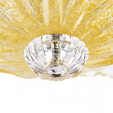 Потолочная люстра Lightstar Murano 601033, 3xE14x40W, хром, янтарь, металл, стекло - миниатюра 4
