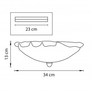 Схема с размерами Lightstar 601033