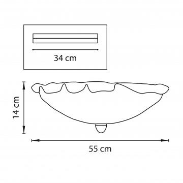 Схема с размерами Lightstar 601050