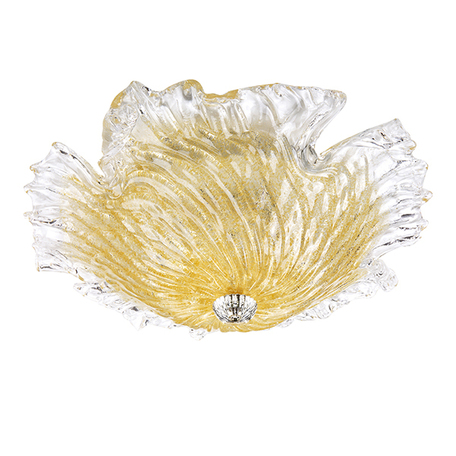 Потолочная люстра Lightstar Murano 601053, 5xE14x40W, хром, прозрачный, янтарь, металл, стекло