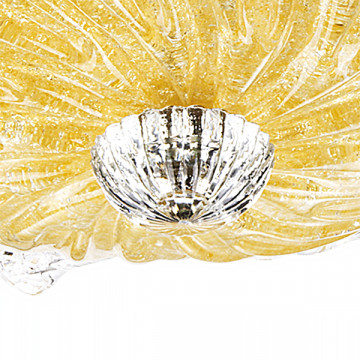Потолочная люстра Lightstar Murano 601053, 5xE14x40W, хром, янтарь, металл, стекло - миниатюра 3