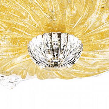 Потолочная люстра Lightstar Murano 601053, 5xE14x40W, хром, янтарь, металл, стекло - миниатюра 4