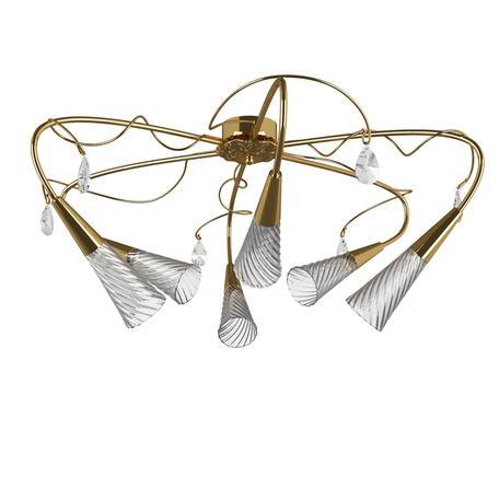 Потолочная люстра Lightstar Aereo 711062, 6xG9x25W, золото, прозрачный, металл, стекло, хрусталь