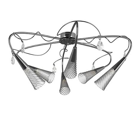 Потолочная люстра Lightstar Aereo 711064, 6xG9x25W, хром, прозрачный, металл, стекло, хрусталь