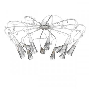 Потолочная люстра Lightstar Aereo 711120, 12xG9x25W, белый, прозрачный, металл, стекло, хрусталь