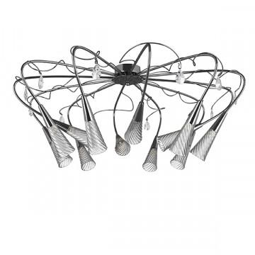 Потолочная люстра Lightstar Aereo 711124, 12xG9x25W, хром, прозрачный, металл, стекло, хрусталь