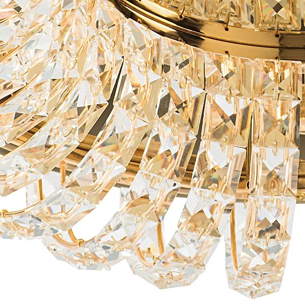 Потолочная люстра Lightstar Onda 741072, 7xG9x40W, золото, прозрачный, металл, хрусталь - фото 2