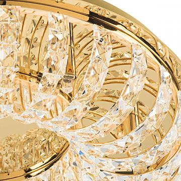 Потолочная люстра Lightstar Onda 741072, 7xG9x40W, золото, прозрачный, металл, хрусталь - миниатюра 3