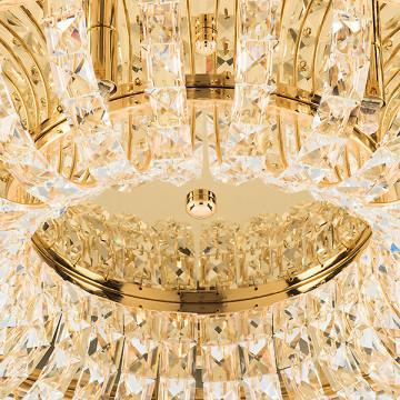 Потолочная люстра Lightstar Onda 741072, 7xG9x40W, золото, прозрачный, металл, хрусталь - миниатюра 4