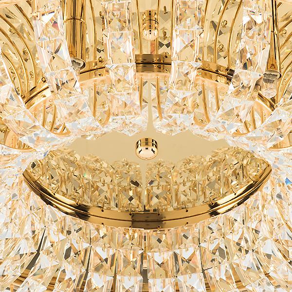 Потолочная люстра Lightstar Onda 741072, 7xG9x40W, золото, прозрачный, металл, хрусталь - фото 4