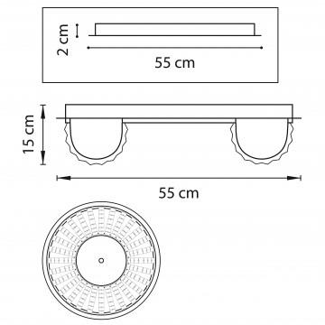 Схема с размерами Lightstar 741072