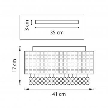 Схема с размерами Lightstar 743064