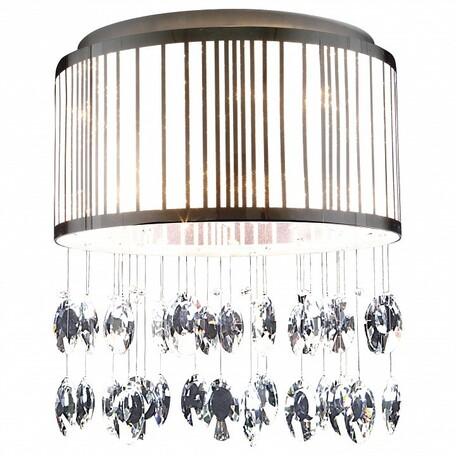 Потолочная люстра Lightstar Cappe 745094, 9xG9x6W, хром, белый, прозрачный, металл, металл с пластиком, хрусталь - миниатюра 1