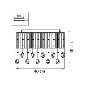 Схема с размерами Lightstar 745094