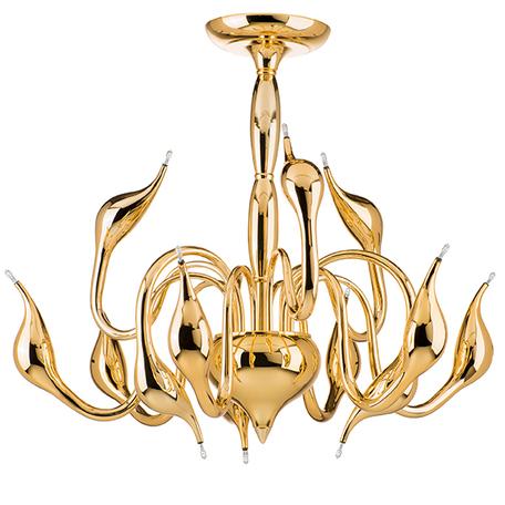 Потолочная люстра Lightstar Cigno Collo 751022, 12xG4x20W, золото, металл