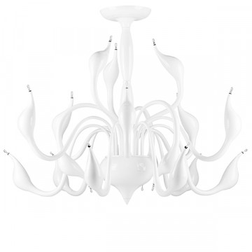 Потолочная люстра Lightstar Cigno Collo 751186, 18xG4x20W, белый, металл